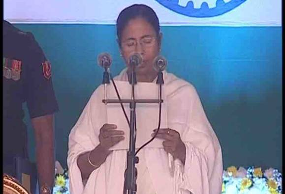 Mamata Banerjee  sworn-in as chief minister of West Bengal