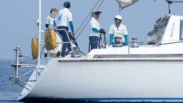 Indian navys all women crew leaves for Mauritius