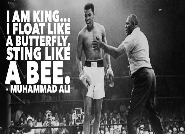 Ali, who declared himself The Greatest before he became one!!