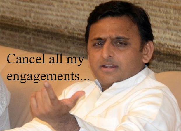 Hapless Akhilesh Yadav turns angry young man over merger issue