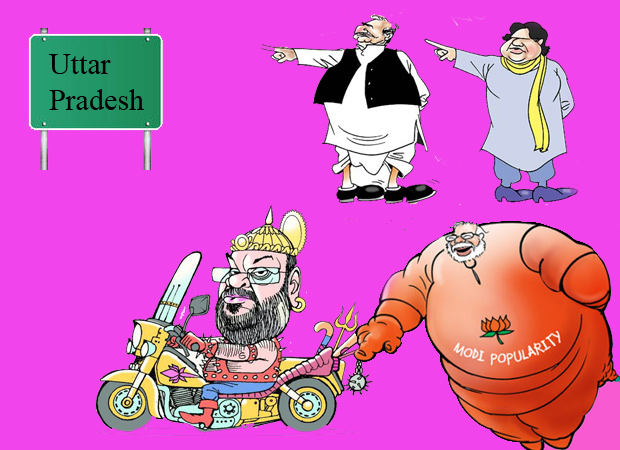 BJP is enjoying the in-fighting in SP and BSP most