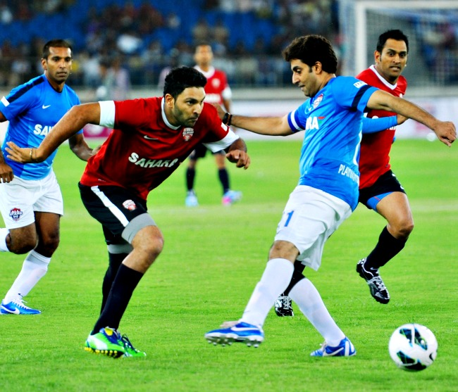 Its Indian Cricket team Vs Bollywood in charity Football match