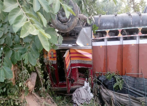 Five killed in a road accident on M F highway in Badaun