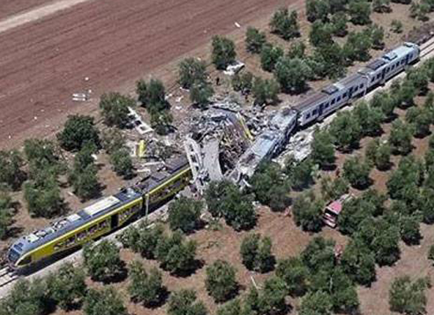 Two trains collide in Italy; 20 people killed, over 30 injured