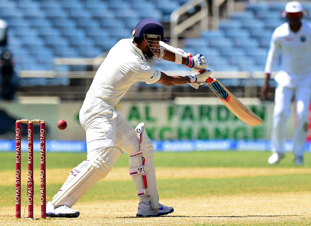 WIvsInd: Rahane completes his ton before India declares 500/9