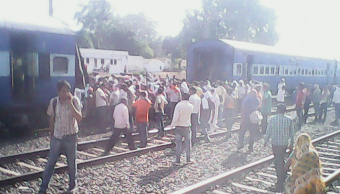 Bizzare: train divided into two, ran few kms in UP
