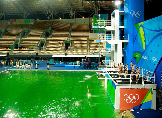 Rio 2016: The pools are getting greener in the Olympics