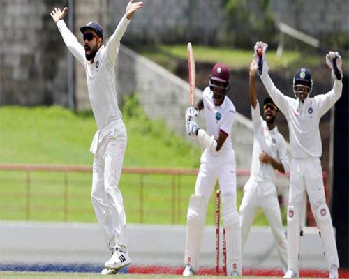 India wins third test match against West Indies; leads series by 2-0