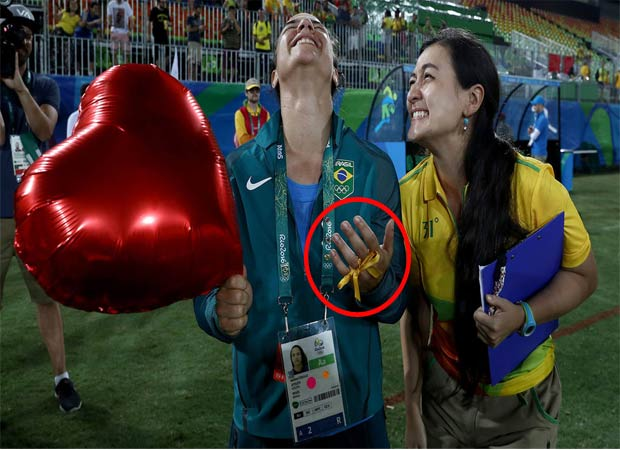 Rio 2016: Brazilian rugby player accepts marriage proposal