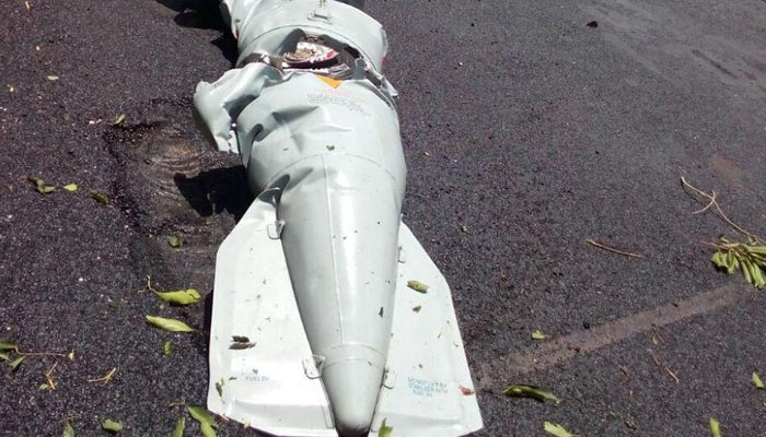 Navy aircraft fuel tanks fell on INS Dega and CISF quarters, no causalities