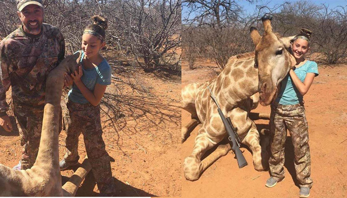 Photos: US girl sparks backlash after posing with hunted animals