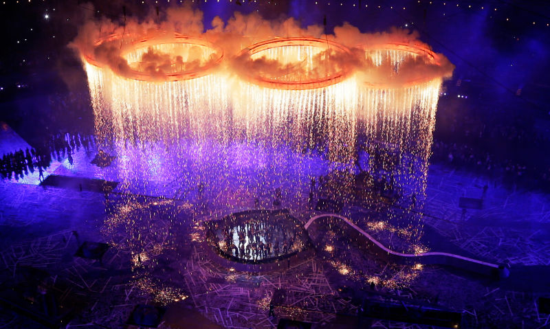 A glittering ceremony marks the beginning of Rio Olympics 2016