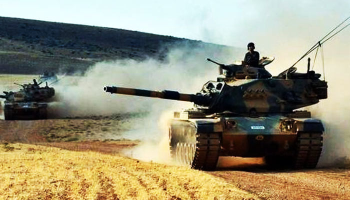 Turkish armed forces launch artillery strikes on ISIS in Syria
