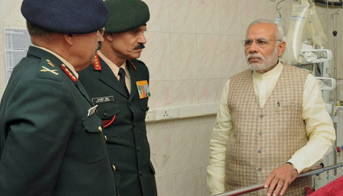 PM discusses countrys reaction to Uri attack with Defence Chiefs