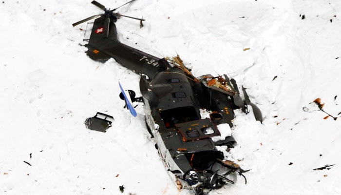 Swiss Army chopper crashes on Gotthard Pass, two pilots killed