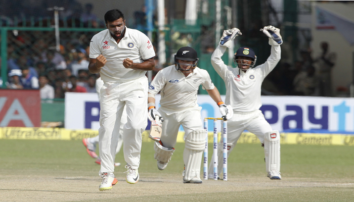 Kanpur test: NZ 93/4 at stumps, India 6 wickets away from win
