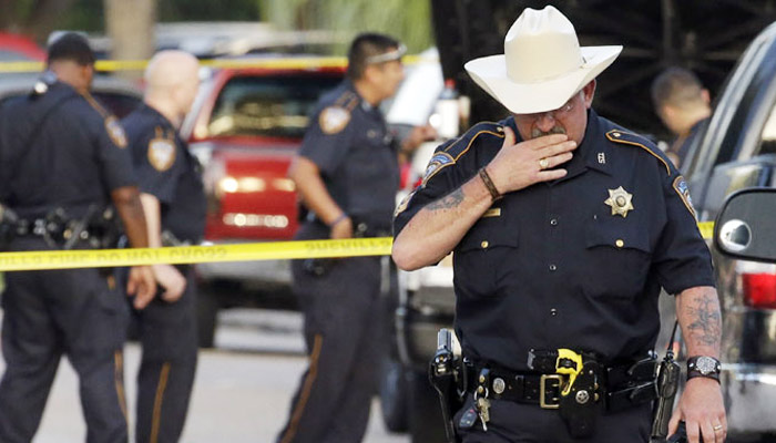 Nine injured in Houston shooting, attacker gunned down by cops