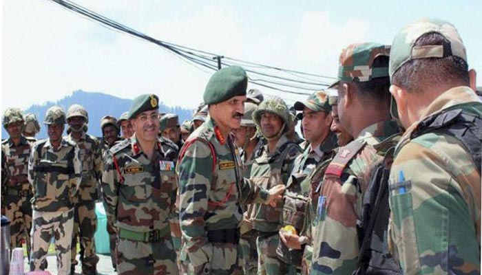 Army chief General Dalbir Singh takes stock of Kashmir situation