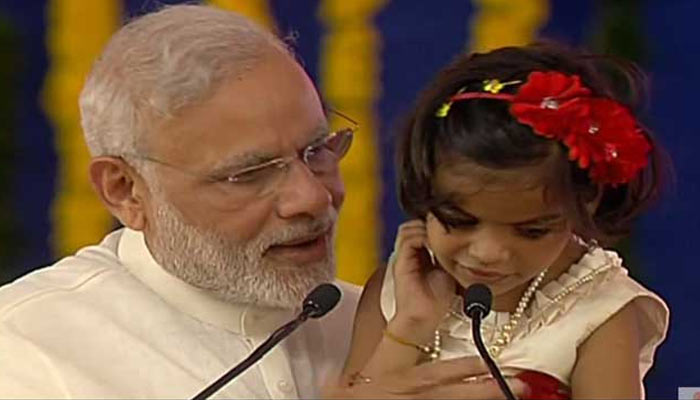 Differently abled little girl impresses PM Modi as recited Ramayan