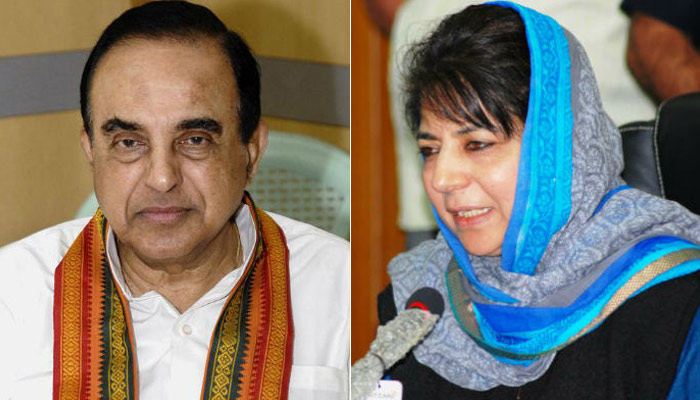 Swamy makes inappropriate remark against J&K CM Mehbooba Mufti