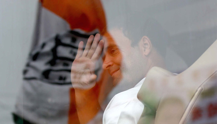 After other politicians, Rahul Gandhi faces shoe attack in UP