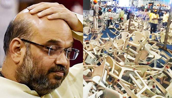 Amit Shah's meeting with Patidar community turns messy in Gujarat