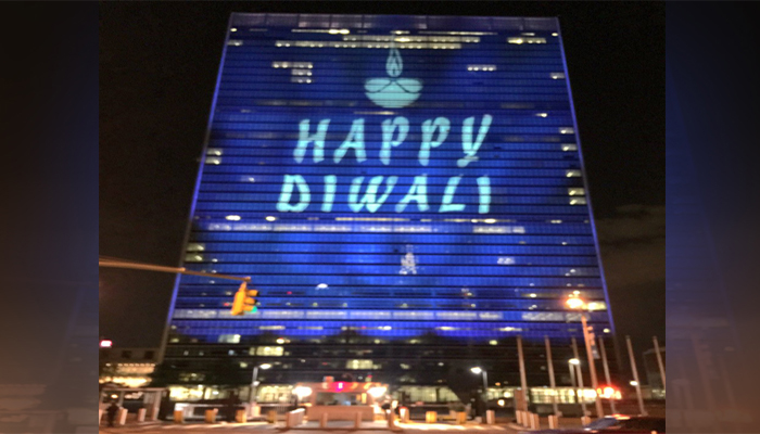 Thanks United Nations !!! You lit up our Deepawali