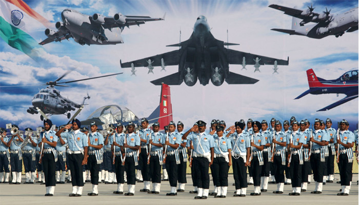 PICTURES: Red Arrows performs aerial salute on 84thIAF day
