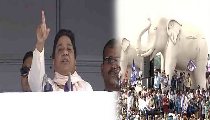 SPs development claims are farce, mostly BSPs projects: Mayawati