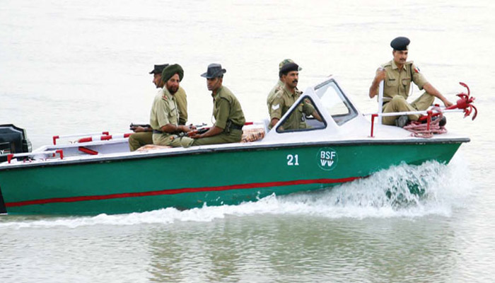 Border security force seizes a Pakistani boat in Punjab