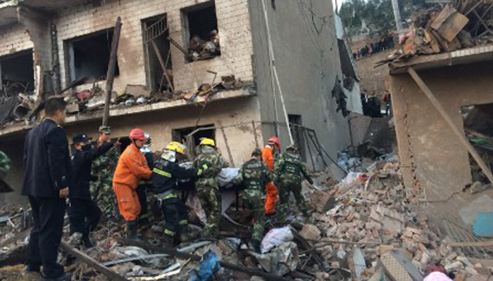 Blast in north-western part of China kills 14 and injures 130 others