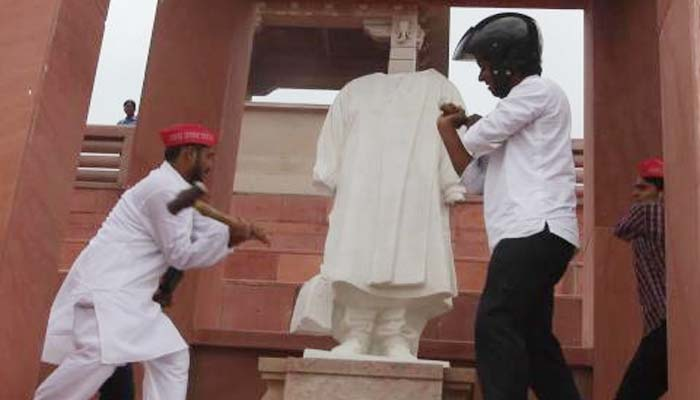 Damaging Mayawatis statue not an offence of sedition, observes a court