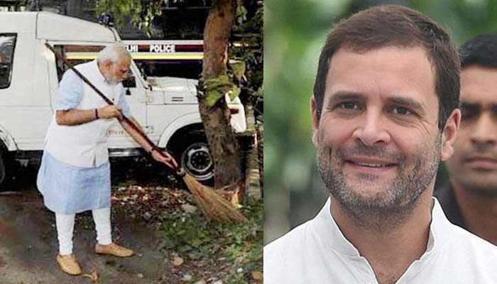 Modi is selfie machine, does not know how to hold broom: Rahul
