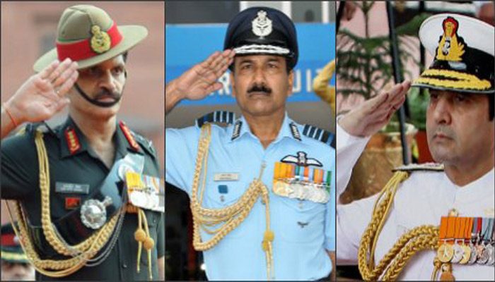 Know why do Defence Forces salute differently?