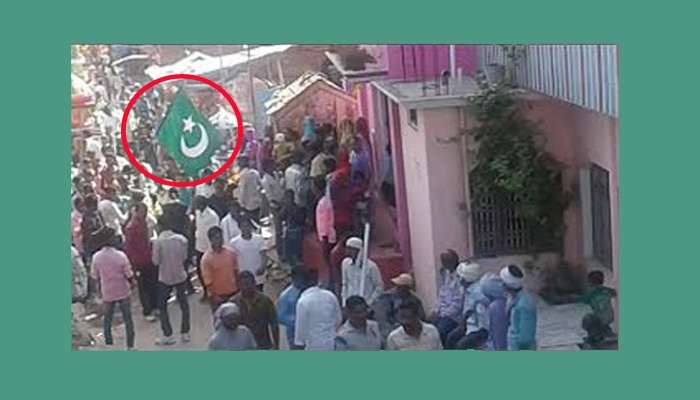 Pakistan flag waived in the Ashura procession creates tension in the district