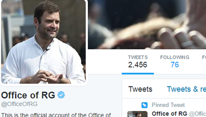 Rahul Gandhis Twitter account hacked; abusive tweets flashed