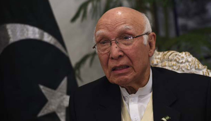 Sartaj Aziz to visit India in December to attend Heart of Asia Conference