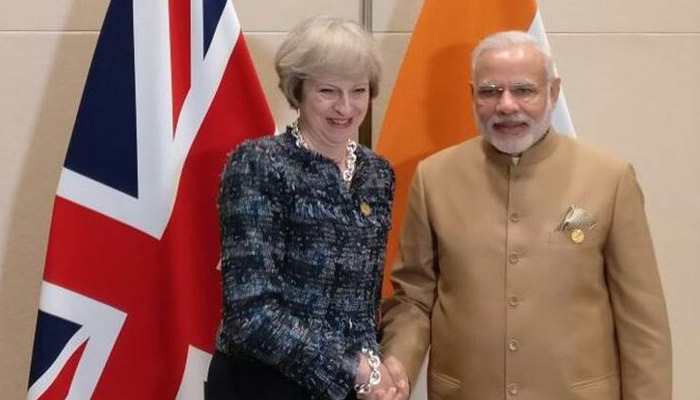 Theresa May arrives in India, says visit would improve Indo-UK ties