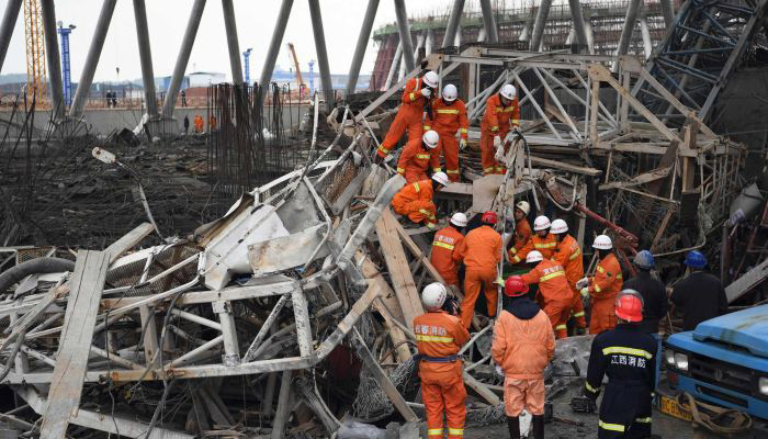 China police detains 9 in Power Plant construction site tragedy