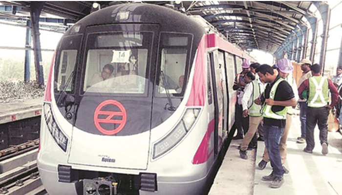 Metro trains with anti-collision technology collide at Magenta Line in Delhi