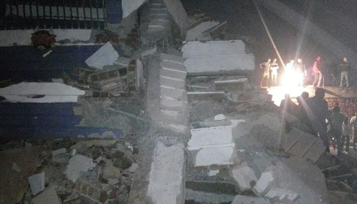 Seven-storey building collapses in Hyderabad