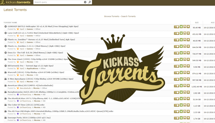 Kickass Torrents makes its return with a new domain