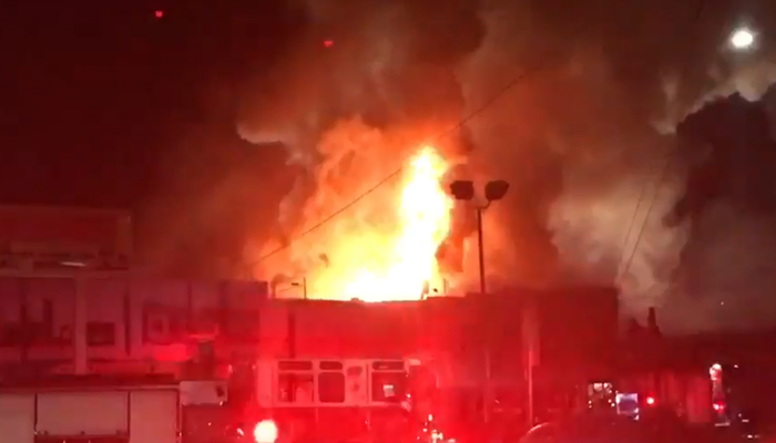 Massive fire at Oakland warehouse during concert; 40 feared dead