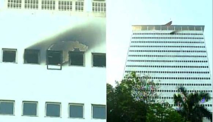 Fire breaks out at Nariman point in Mumbai, no causalities