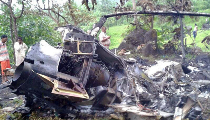 Helicopter crashes at Aarey colony in Mumbai, two dead