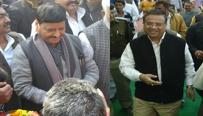 Shivpal inaugurates road made in the name of scribe Yogesh Mishra's father