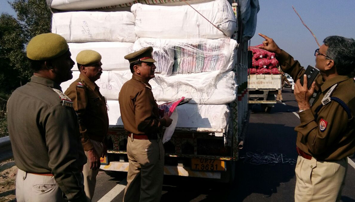 A truck-load of Saris seized; Controversial UP minister on radar