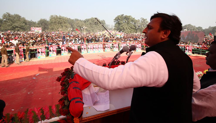 Akhilesh Yadav sets off SPs election campaign from Sultanpur