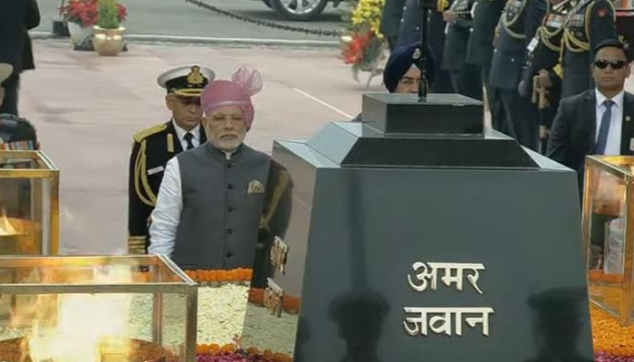 68th Republic Day parade ceremony concludes at Rajpath
