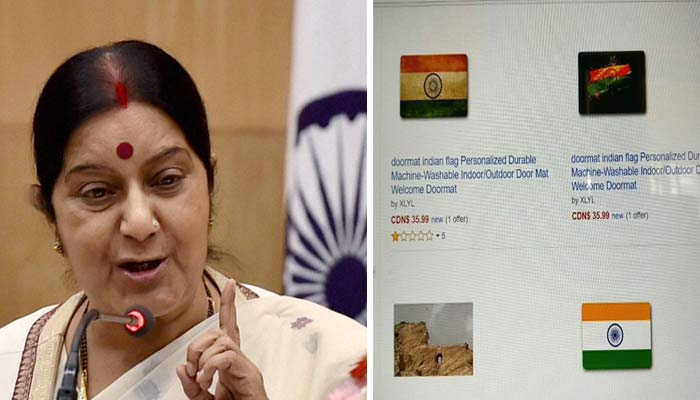 Amazon removes Indian flag doormats after Swaraj's stern take